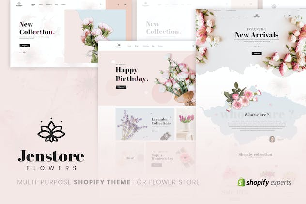 JenStore | Multi-Purpose Shopify Theme for Flower