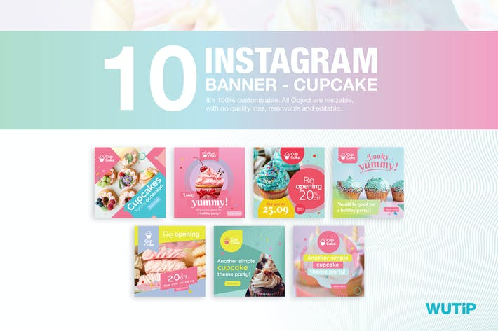 Thumbnail for 10 Instagram Post Banner-Cupcake