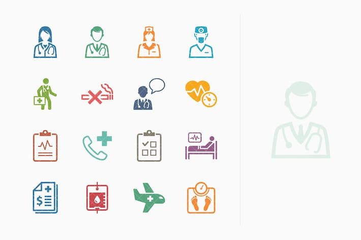 Thumbnail for Medical Services Icons Set 2 - Colored Series