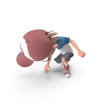 Cartoon Boy Picking Up