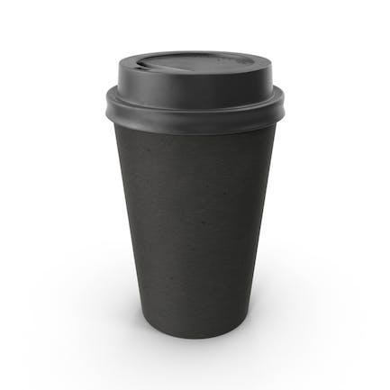 Taza de café de papel negro sin funda