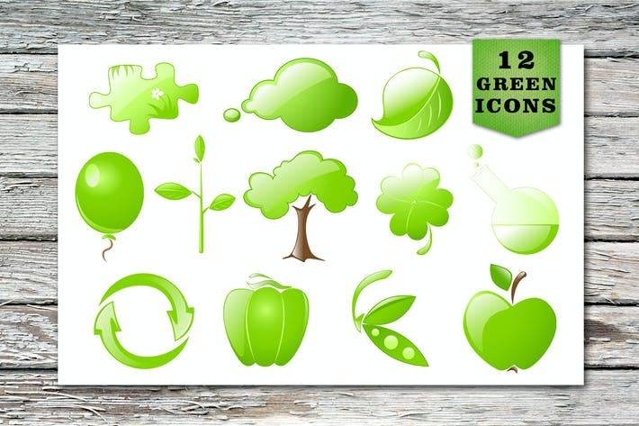 Thumbnail for Green Vector Icons