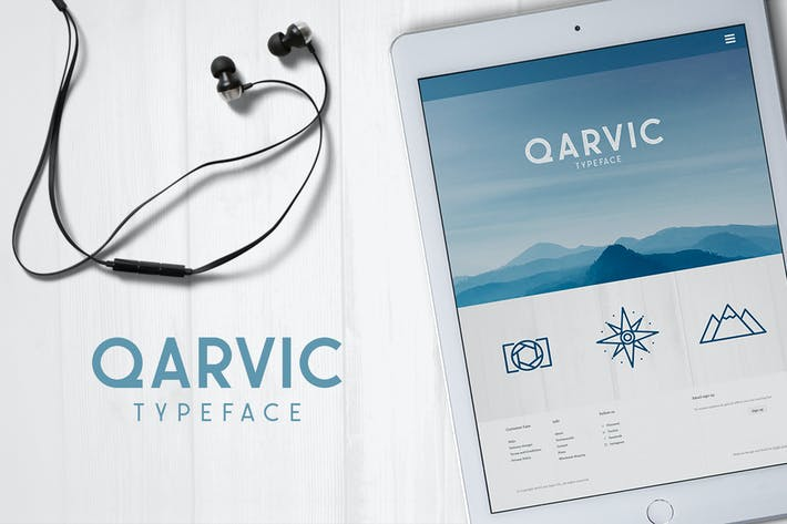 Thumbnail for QARVIC Typeface