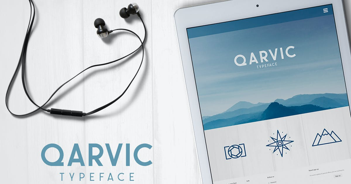 Download QARVIC Typeface by alit_design