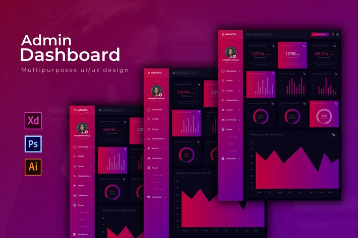 Thumbnail for Magenta Dashboard | Admin Template