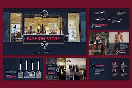 Memphis Patterns Theme-Fashion Store Presentation