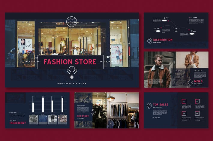 Thumbnail for Memphis Patterns Theme-Fashion Store Presentation