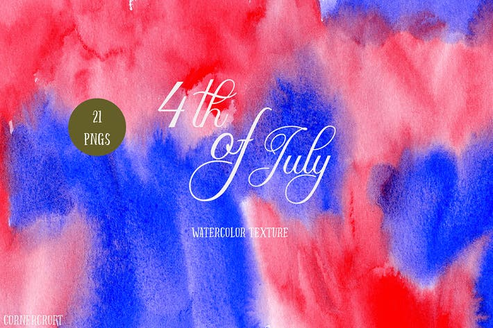 Thumbnail for Watercolor Texture 4th of July