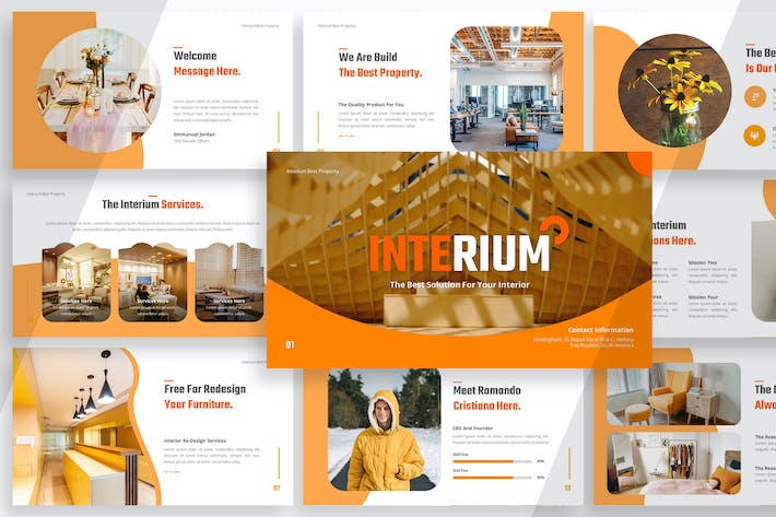 Cover Image For Interium Interior Business - Powerpoint