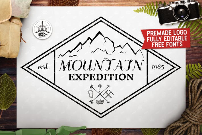 Thumbnail for Vintage Mountain Outdoor Logo / Label Templates