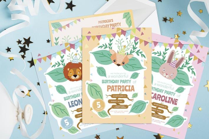 Jungle Party - Kids Birthday Invitation