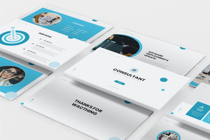 Cover Image For IT Consultant Keynote Template