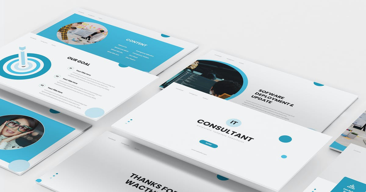 Download IT Consultant Keynote Template by Formatika