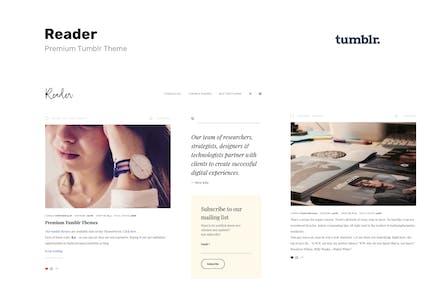 Lecteur   Responsive Blogging Tumblr Thème