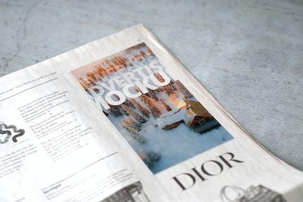 Newspaper Advertise Mockup v4