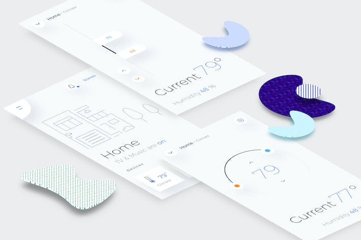 Cover Image For Smart Home Climate Mobile Ui v.3