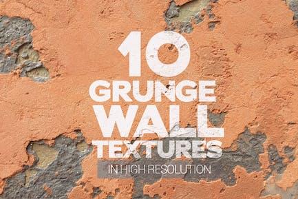 Grunge Wandtexturen, 10 Stück