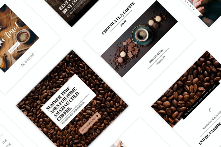 Thumbnail for Coffee House - Social Media Template