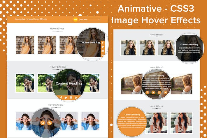 Thumbnail for Animative - CSS3 Image Hover Effects