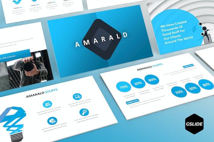 Thumbnail for Amarald - Modèle Google Slides