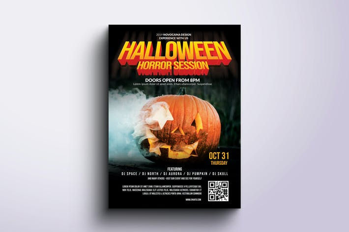 Thumbnail for Halloween Party Poster & Flyer v5