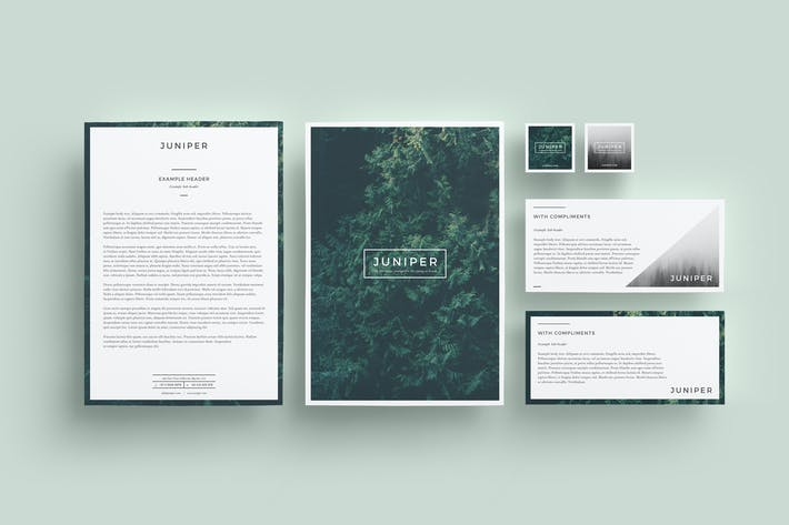 Thumbnail for J U N I P E R Letterhead & With Comps