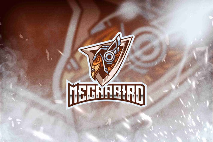 Thumbnail for Mecha Bird Esport Logo Template