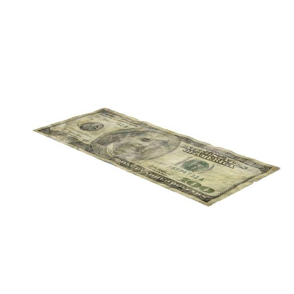 US 100 Dollar Bill Distressed