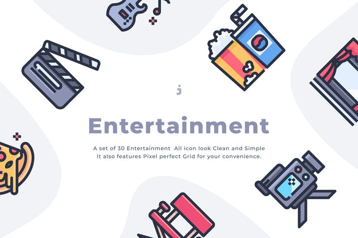 Thumbnail for 30 Entertainment Icons