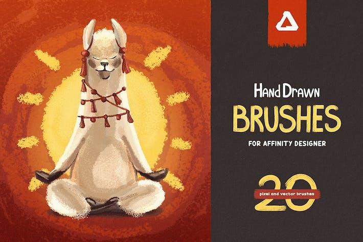 Thumbnail for Ручной рисование Кисти для Affinity Designer