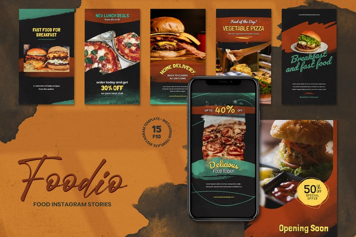 Thumbnail for Foodio - Fast Food Instagram Stories Template