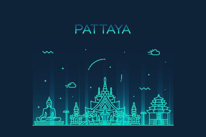 Thumbnail for Skyline de Pattaya, Tailandia