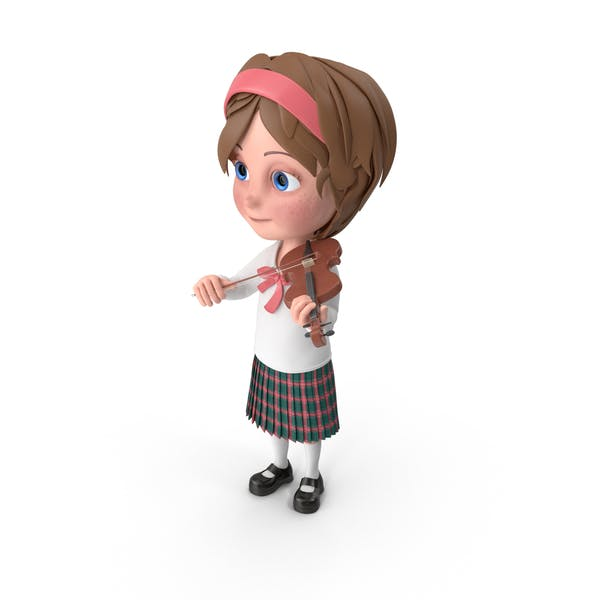 Мультфильм девушка Меган играть скрипка