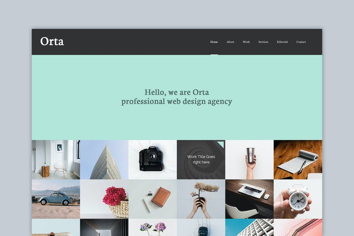 Thumbnail for Orta - Photography & Blog PSD Template
