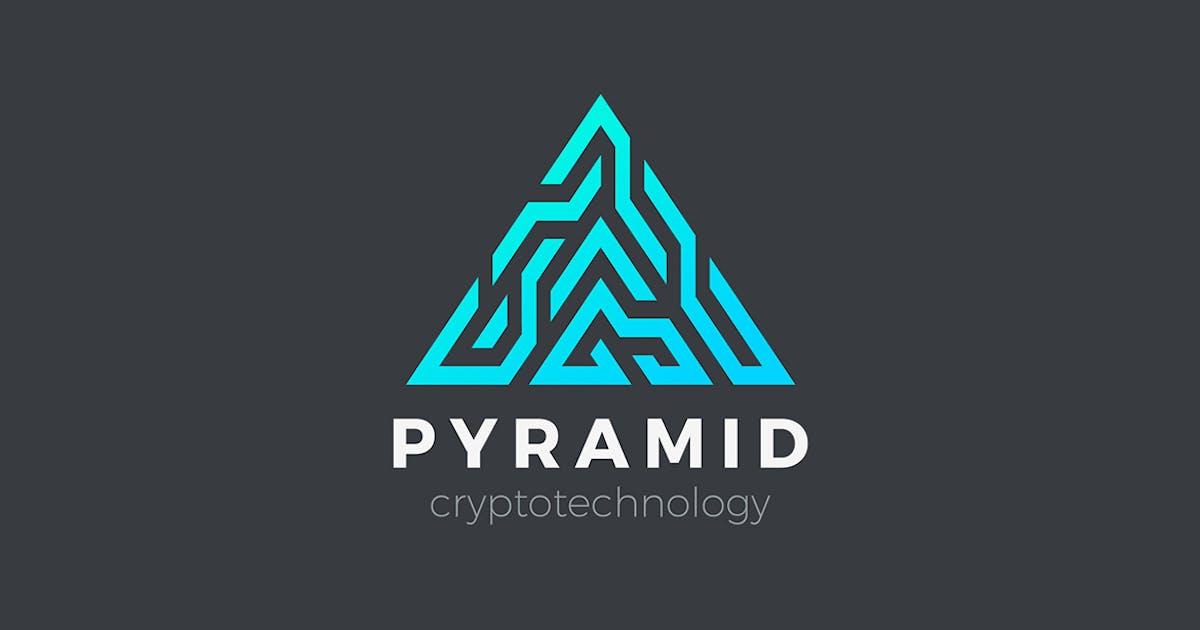 Download Logo Pyramid Triangle Technology Blockchain sign by Sentavio
