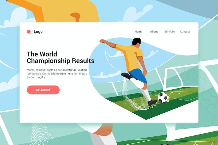 Thumbnail for Jouer Modèle Web Football pour la page de destination
