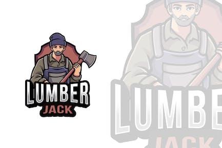 Lumberjack Logo Template