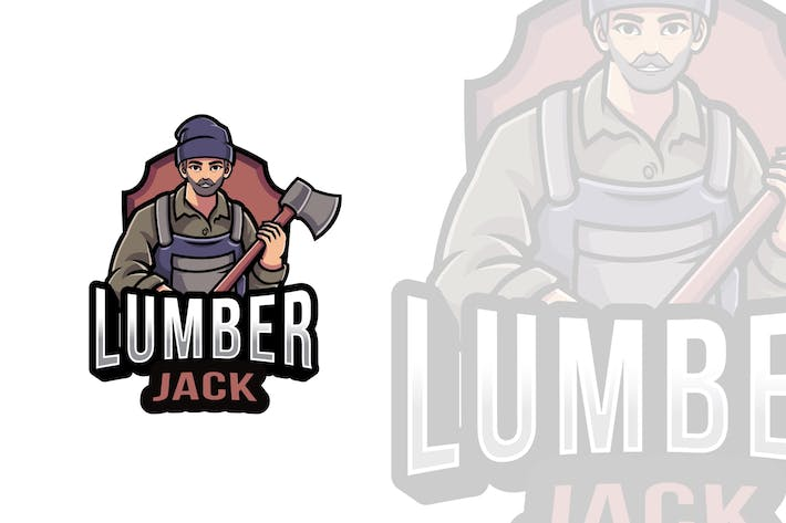 Thumbnail for Lumberjack Logo Template