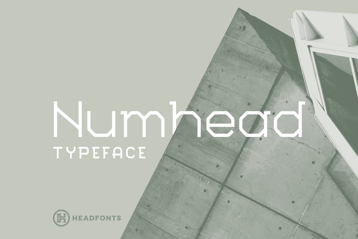 Cover Image For Numhead Typeface