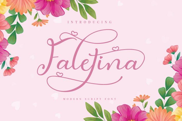 Thumbnail for Faletina modern script font