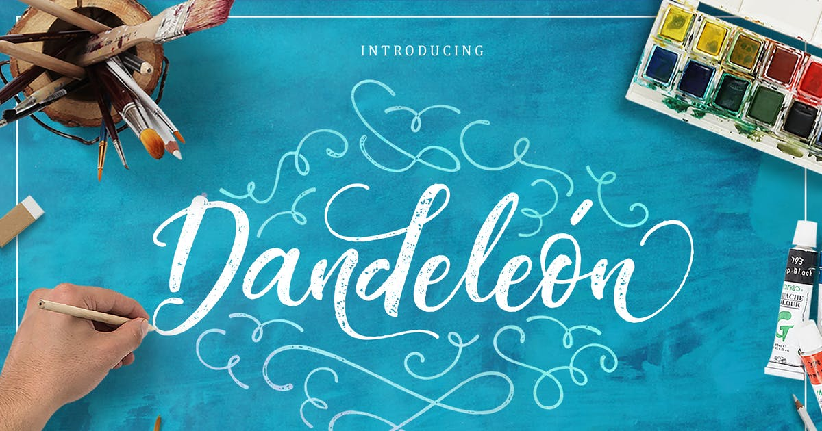 Download Dandeleón font + SWASHES by Eric_Burntilldead
