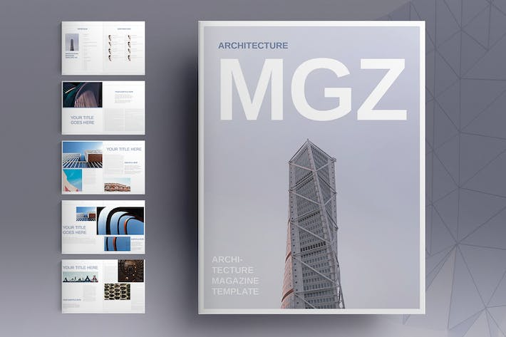 Thumbnail for Architecture Magazine Template