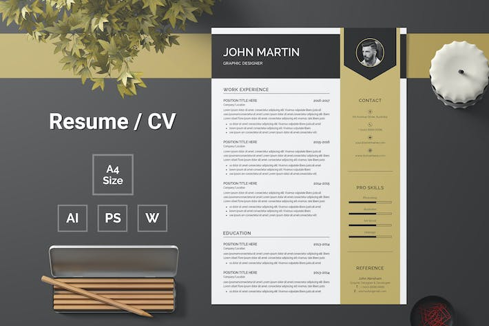 Thumbnail for Resume Template 110