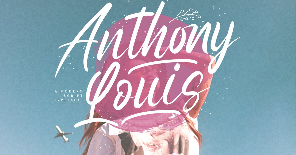 Download Anthony Louis - Modern Script Font by StringLabs