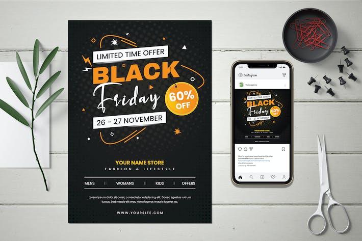 Black Friday Sale Flyer & Banner Design