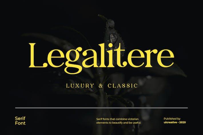 Thumbnail for Police de serif Legalitere