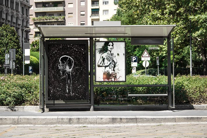 Thumbnail for Bus Stop Flyer Mock-up