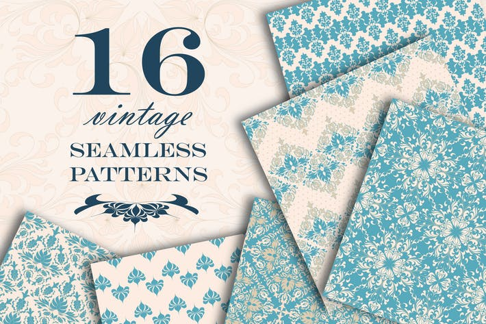Thumbnail for Vintage seamless patterns