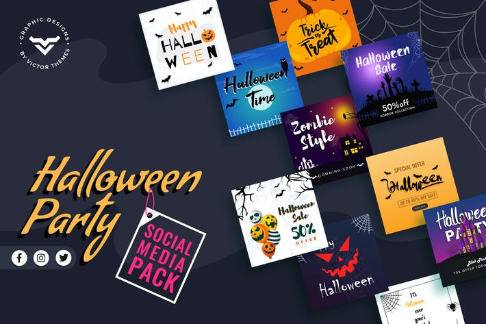 Thumbnail for Halloween Social Media Template