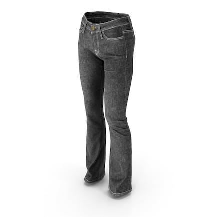 Женские джинсы черный